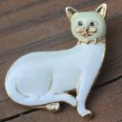 Super Cute Vintage Enamel Cat Pin Brooch