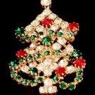 Vintage Rhinestones ChristmastTree Pin/Brooch