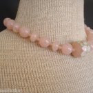 Vintage Art Deco Pink Early Plastic Collar Necklace
