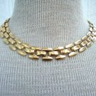 Vintage Chunky Gold Tone Chain Necklace 1980s
