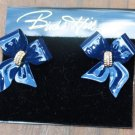 Birch Hill Navy Crystal Bow Earrings & Pin Brooch Set