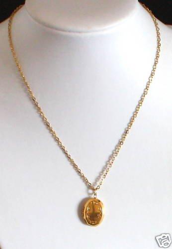Vintage Gold Tone Tiny Locket Necklace/Pendant