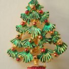 Outstanding Vintage Christmas Tree Pin Brooch