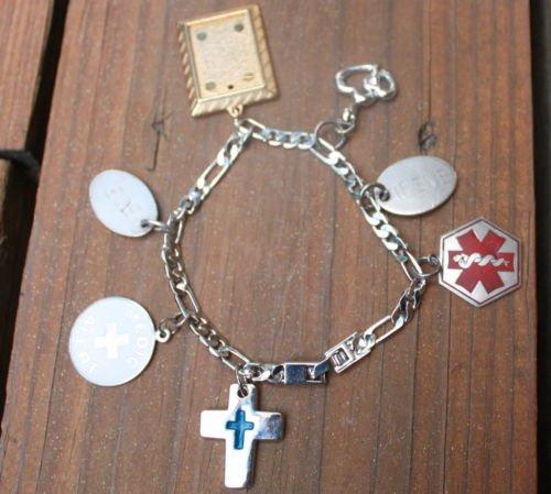 Vintage Paramedic Sterling Charms Bracelet