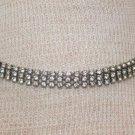 Vintage Deco White Rinestone Wide Choker Necklace