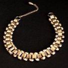 Vintage Gold Tone Link Choker Necklace