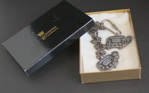 Vintage HMS Necklace Key Chain Set In Original Box!
