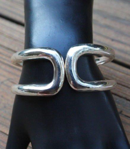 Vintage Chrome Silver Tone Clamper Bracelet