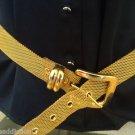Outstanding Vintage Gold Tone Mesh Wide belt