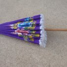 Vintage Purple Hand Painted Umbrella