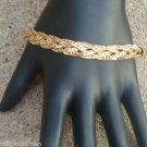 Glam Vintage Gold Tone Rope Chain Bracelet