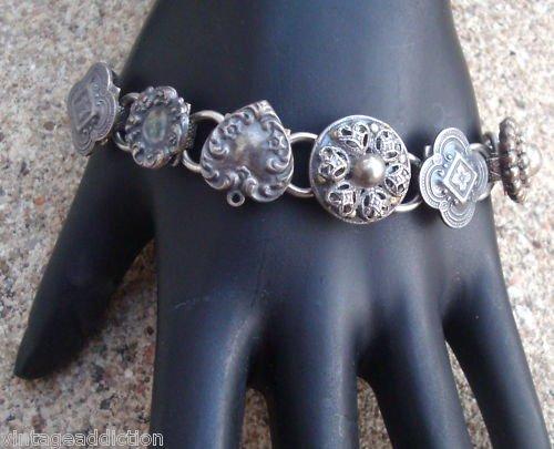 Vintage Art Deco Link Antique Bracelet