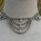 Vintage Antique Deco Rhinestone Necklace Sparkling