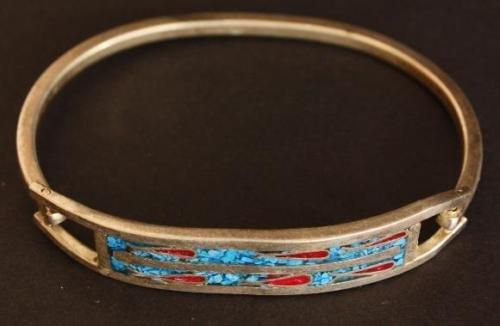 Vintage  Alpaca Mexico Southwestern Bracelet