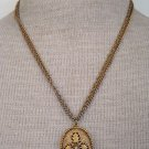 Vintage Antique Unique Pendant Double Chain Necklace