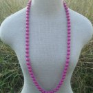 "Vintage Deep Purple Bead 11 MM 36"" Long Strand Necklace"