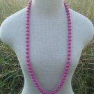 "Vintage Deep Purple Bead 11 MM 36"" Long Strand Necklace"