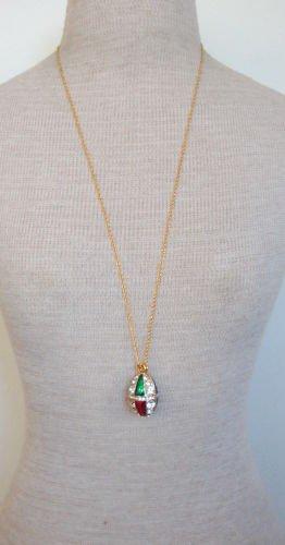 Vintage Joan Rivers Rhinestone Vibrant Pendant Necklace