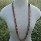 "Vintage Brown Bead Multistrand  36"" Long Necklace"