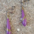 Vintage Antique Art Deco Purple Earrings