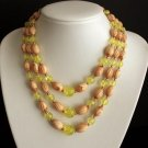 Vintage Green Multi Strands Beaded Necklace