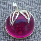 Cute Sarah Cov Magenta Apple Pin Brooch