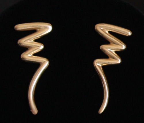 Vintage Modernist  Sterling Thailand Pierced Earrings
