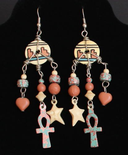 Vintage Multiple Strands Tribal Dangle Earrings