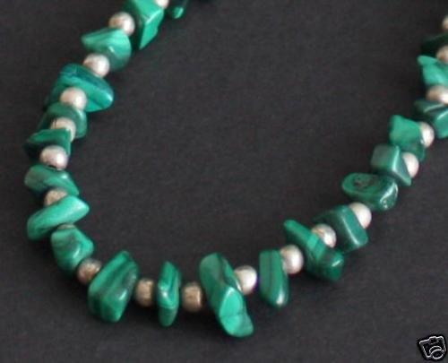 Vintage Southwestern Green Malachite Stone Necklace