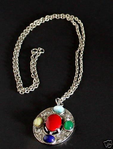 Vintage Multi  Stone Necklace/Pendant