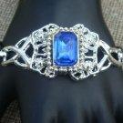 Vintage Large Blue Glass Dressy  Bracelet