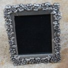 Vintage Pewter Flower Photo Frame Pin Brooch