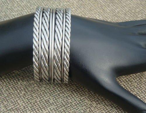 Vintage Art Deco Silver Tone Cuff Bracelet