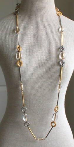 "Vintage Boho  Mesh Long Necklace 50"" 1980s"