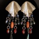 Vintage Multi Strand Pierced Dangle Long Earrings