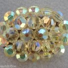 Vintage Lime Green Aurora Borealis Glass Pin Brooch