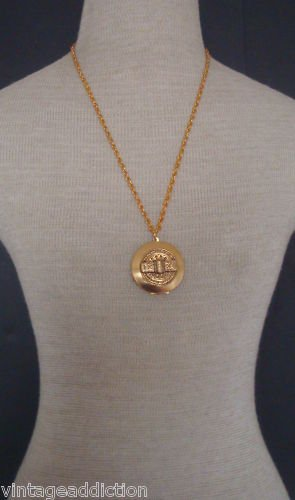 Vintage 1970s Locket Pendant Necklace
