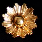 Vintage Coro Golden Metal Flower Pin/Brooch