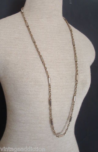 """Chic Vintage Silver Chain 37"""" Long Necklace"""