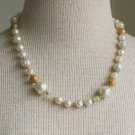 Vintage Art Deco White Baroque Faux Pearl Necklace