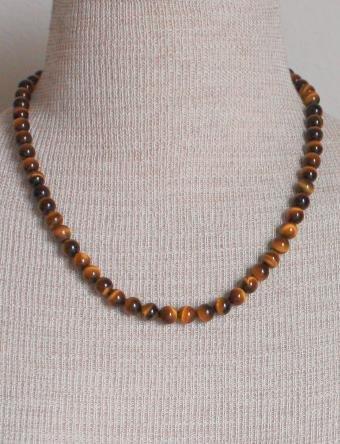 Vintage Tiger's Eye Brown Gemstone Necklace