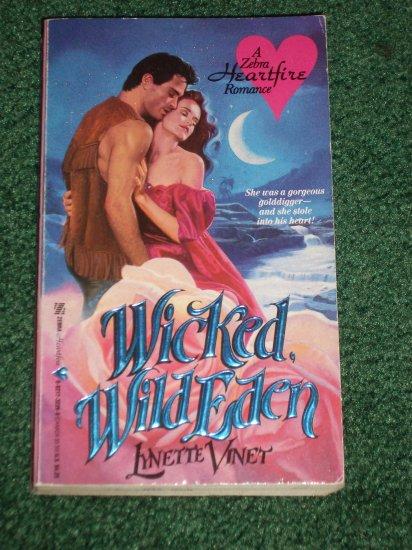 Wicked, Wild Eden by Lynette Vinet Historical Irish Romance Zebra Heartfelt 1990