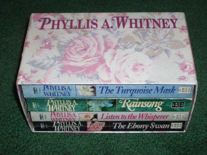 PHYLLIS A. WHITNEY Boxed Set of 4 MYSTERY + SUSPENSE. Turquoise Mask, Rainsong, The Ebony Swan