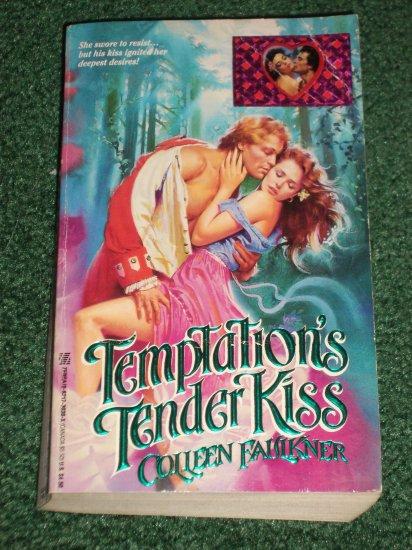 Temptation's Tender Kiss by COLLEEN FAULKNER Zebra Historical Colonial Romance 1990