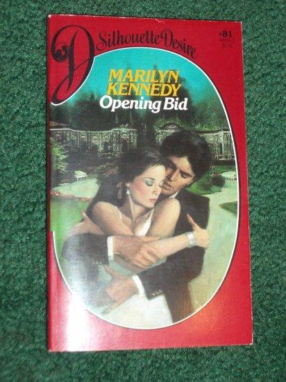 Opening Bid by MARILYN KENNEDY Vintage Silhouette Desire #81 Aug83