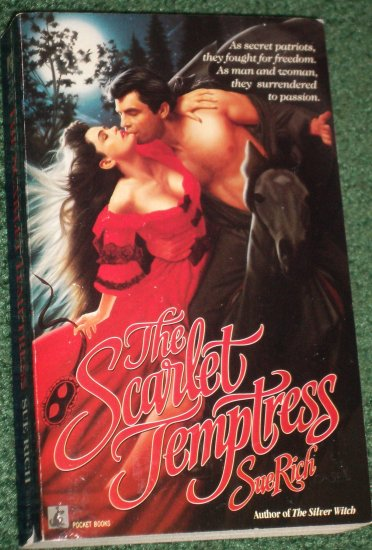The Scarlet Temptress by SUE RICH Historical American Revolution Romance 1991