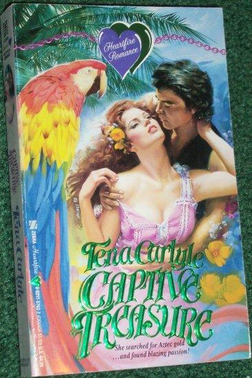 Captive Treasure by TENA CARLYLE A Zebra Heartfire Historical Victorian Romance 1992