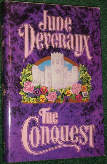 The Conquest by JUDE DEVERAUX Historical Medieval Romance Hardback with Dust Cover 1991 Large Print