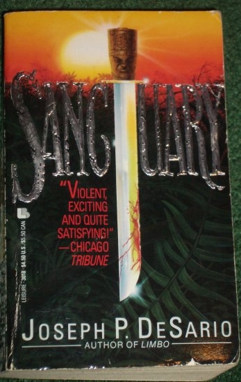 Sanctuary by JOSEPH P. DeSARIO Suspense and Murder Mystery 1989
