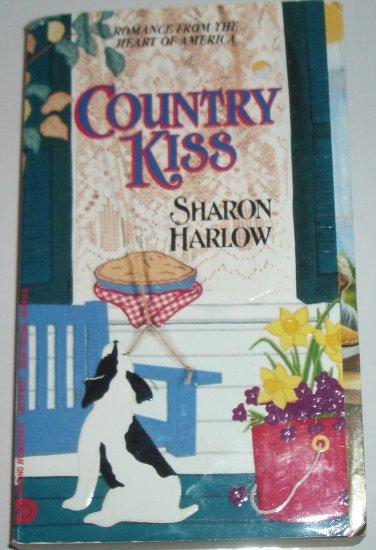 Country Kiss by SHARON HARLOW Jove Homespun Historical Western Romance 1993